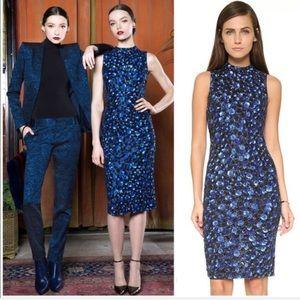 "Alice + Olivia ""Ivana"" blue sequin midi dress 2"